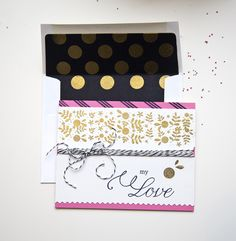My Love Card and Coordinating Envelope by Ashley Cannon Newell for Papertrey Ink (December 2013)