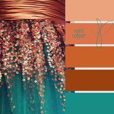Beautiful burnt orange and turquoise Colour Pallette, Color Palate, Colour Schemes, Color Combos, Paint Combinations, Paint Schemes, Rose Gold Color Palette, Vintage Color Schemes, Design Seeds