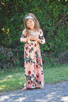 279ca9456 Kids  Floral Maxi Dress