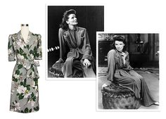 Many of Trashy Diva's silhouettes are named after classic entertainers from the early-to-mid 20th century. You may already have an idea, but our Hepburn Robe's namesake is none other than classic film actress Katharine Hepburn. #trashydivahepburnrobe #trashydivasteelmagnolias