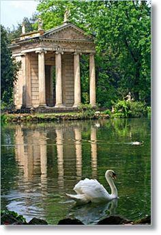 Villa Borghese garden.
