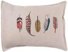 Feathers pillow ~ Coral & Tusk