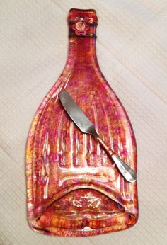 Upcycled Wine Bottle Cheese/Appetizer by SparksPainInTheGlass, $19.50