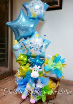 Baby Shower Wall Decor, Cute Baby Shower Gifts, Baby Shower Parties, Baby Boy Shower, Baby Gifts, Balloon Arrangements, Balloon Centerpieces, Baby Shower Centerpieces, Balloon Decorations