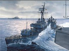 U.S. destroyer.  La Pintura y la Guerra. Sursumkorda in memoriam