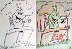 27 Best Coloring books colored by adults images | Coloring ...