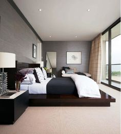 Wallpaper - modern bedroom interior design