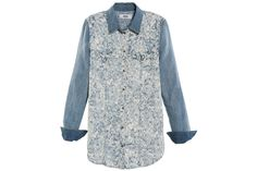 Beef up Your Back-to-School Wardrobe with These 100 Denim Pieces: Diesel De-Bloss shirt