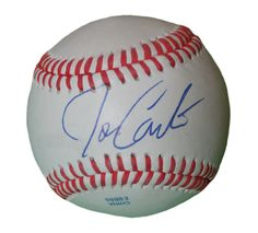SD Padres Joe Carter signed Rawlings ROLB leather baseball w/ proof photo.  Proof photo of Joe signing will be included with your purchase along with a COA issued from Southwestconnection-Memorabilia, guaranteeing the item to pass authentication services from PSA/DNA or JSA. Free USPS shipping. www.AutographedwithProof.com is your one stop for autographed collectibles from San Diego Sports teams. Check back with us often, as we are always obtaining new items.