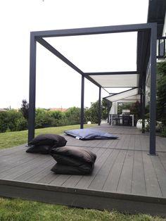 Self-supporting pergola / aluminum / PVC farbric sliding cover - ID2 DESIGN - IDÉEÀ TERRASSE - Abritez-vous chez nous