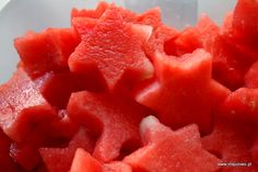 party ideas, water-melon, stars