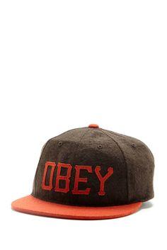 Obey headgear.
