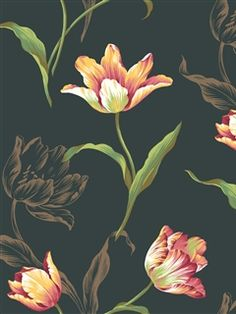 Ashford House Wallpaper | Tulip Sidewall | AmericanBlinds.com