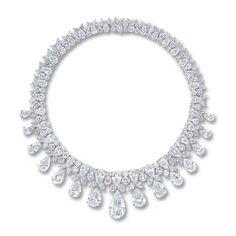 The internally flawless fringe necklace by Harry Winston; $5,095,872 #diamond #HarryWinston