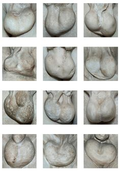 """""""Marbles"""" is a 2013 photo series by London-based photographer Ingrid Berthon-Moine that focuses specifically on the testicles of marble Greek statues found throughout Europe. Feature Shoot states t..."""