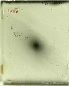 On the night of October 5-6, 1923, Carnegie astronomer Edwin P. Hubble took a plate of the Andromeda Galaxy with the Hooker 100-inch telescope of the Mount Wilson Observatory.
