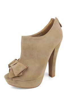 Elysia Peep Toe Bow Bootie by Mad About Shoes on @HauteLook