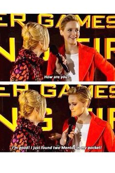 Jennifer Lawrence at the Hunger Games Catching Fire premier just found two mentos J Law, The Hunger Games, Hunger Games Memes, Catching Fire, Seinfeld, Jeniffer Lawrance, Jennifer Lawrence Funny, Tribute Von Panem, Reasons To Be Happy