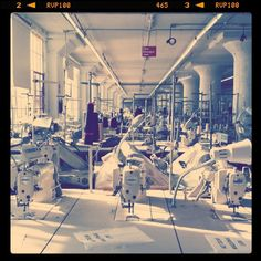 Factory scene at the #AmericanApparel headquarter.  #aafactory #factorylife #industrial #madeinusa