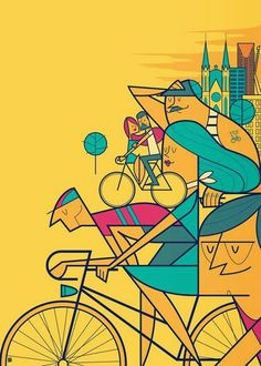 Bike illustration by Ale Giorgini