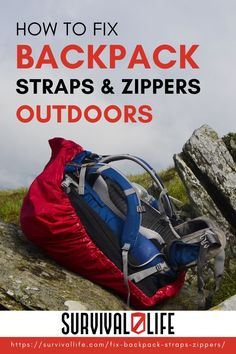 Take hold of these useful tips on how to fix backpack straps and zippers so you'll know what to do should yours get damaged, especially outdoors. #survivallife #survival #preparedness #survivalist #prepper #camping #outdoors #spring #outdoorsurvival #survivalhacks #backpack Survival Hacks, Survival Life, Camping Outdoors, Backpack Straps, Outdoor Survival, Zippers, Baby Car Seats, Backpacks, Spring