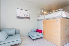 Designer apartment in the city centre, Warszawa, Polska Small Apartments, Loft, Interior Design, Bed, Furniture, Home Decor, Nest Design, Homemade Home Decor, Lofts