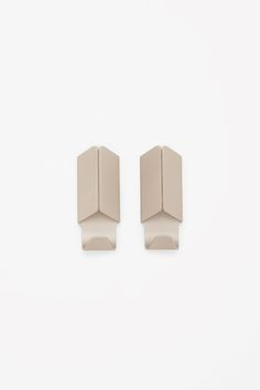 COS image 1 of HAY Volet hook set of 2 in Biscuit Flat Ideas, Mish Mash, Perfectly Imperfect, Contemporary Fashion, Innovation Design, Fashion Brand, Really Cool Stuff, Objects, Stud Earrings