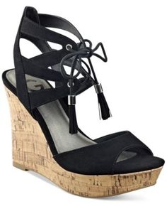 G by GUESS Estes Platform Wedge Sandals | macys.com