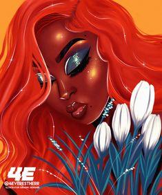 Monika Green Art Print by foreverestherr Black Love Art, Black Girl Art, Art Girl, Girl Artist, Black Art Painting, Black Artwork, African American Art, African Art, Drawings Of Black Girls