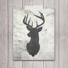 Printable Deer Art - 8x10 Rustic Home Decor
