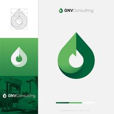 Alternative Fuel's Concept Design & Color Palette. As the logo is a fusion of a drop💧, flame 🔥, leaf 🍃and 🔃, decided to… Vector Verde, Water Drop Logo, Crea Design, Flat Logo, Green Logo, Logo Concept, Logo Design Template, Grafik Design, Create A Logo