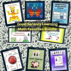 The Math Favorites Multisensory Bundle is a discount offering of Dr. Warren's most popular math downloads.  All of these products offer multisensory methods and materials that bring fun and embedded memory strategies into math instruction. #mathgames #multisensorymath Memory Strategies, Math Strategies, Reading Specialist, Money Games, Help Teaching, Art Activities, Math Games, Math Lessons, Fun Learning