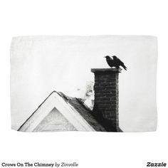 Crows On The Chimney Towel Crows, Diy Face Mask, Dog Design, Clean Up, Funny Cute, Dog Cat, Art Pieces, Towel, Kids Shop