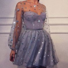 star dress glitter in blue - Homecoming Dresses Cute Prom Dresses, Grad Dresses, Ball Dresses, Elegant Dresses, Pretty Dresses, Beautiful Dresses, Casual Dresses, Fashion Dresses, Dresses For Parties