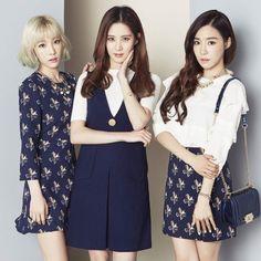 Girls' Generation: Taeyeon, Tiffany & Seohyun for MIXXO Spring 2016 Collection Kim Hyoyeon, Seohyun, Girls' Generation Taeyeon, Girls Generation, Kpop Girl Groups, Kpop Girls, Hyun Seo, Tights Outfit, Girl Day
