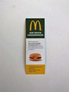 Free hamburger ticket by Printbirdie for client Mcdonalds, Ticket, Hamburger, Free, Burgers