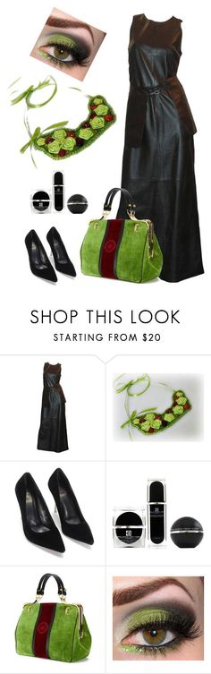 """Black & Amber & Green"" by styledonna on Polyvore featuring moda, Brilliance New York, Roberta Di Camerino, women's clothing, women's fashion, women, female, woman, misses i juniors:"