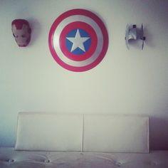 Captain America Wall Clock Toys Super Bat Pinterest And