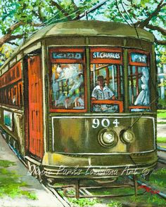 Charles No. 904 by Dianne Parks - St. Charles No. Charles No. 904 Fine Art Prints and Posters for Sale Louisiana Art, Louisiana Creole, Louisiana History, Canvas Art, Canvas Prints, Canvas Ideas, Canvas Paintings, New Orleans Art, New Orleans French Quarter