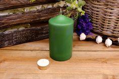 Κεριά Κυλινδρικά Πράσινα Φ8x15εκ Pillar Candles, Taper Candles