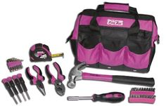 The Original Pink Box PB30TBK 12-Inch Tool Bag and 30-Piece Tool Set, Pink. Shopswell | Shopping smarter together.™