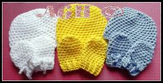 AG Handmades: Newborn Baby Beanie and Mittens; with additional directions for Preemie Hat.