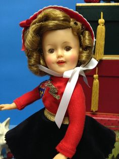 "RARE Original 12"" Ideal Shirley Temple Doll in Her Ice Skater Outfit 