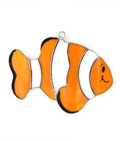 NEMO Clown Fish Switchables stained glass night light cover.  Great addition to a kids room.