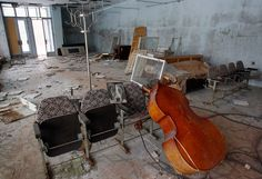 An interior view of a building in the abandoned city of Pripyat near the Chernobyl nuclear power plant in Ukraine on February 24, 2011. (Reuters/Gleb Garanich)