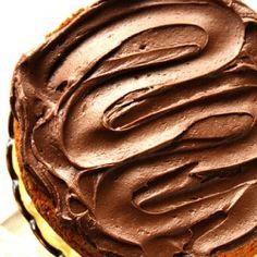 french vanilla cake with mocha frosting