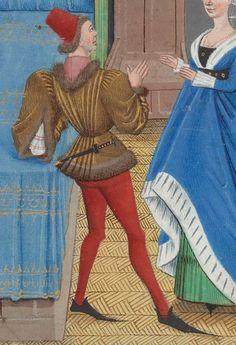 Regnault de Montauban, rédaction en prose. Regnault de Montauban, tome 1er  Date d'édition :  1451-1500  Ms-5072 réserve   Folio 202v
