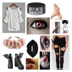 """""""..."""" by mikailaclonts on Polyvore featuring WithChic, Iron Fist, Rock 'N Rose and Lime Crime"""