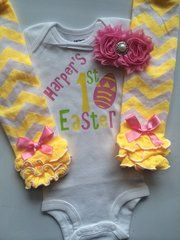Easter gifts for baby girls age 5 months to 2 years easter outfit baby girl easter outfit sizes nb 24 month personalized 1st easter negle Image collections