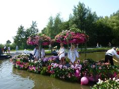 One of the greatest events in Holland, Varend Corso Westland, is a floating parade of boats decorated with fresh fruits, vegetables, colorful flowers and plants from the greenhouses in Westland, Holland